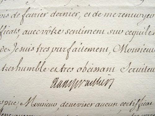 Bauyn d'Angervilliers veut des garanties pour un certificat de noblesse.. Nicolas Prosper Angervilliers (Bauyn d') (1675-1740) Intendant du Dauphiné, ...