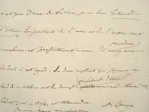 Anatole Gruyer, le conservateur de Chantilly, rectifie une erreur.. Anatole Gruyer (1825-1909) Critique d'art, spécialiste de Raphaël, inspecteur ...