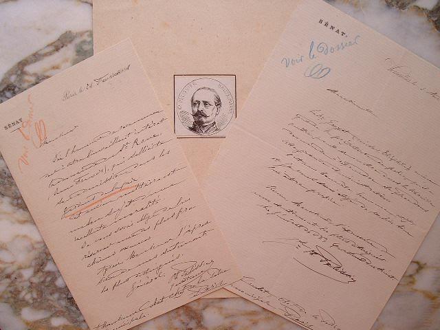 Général Pélissier. Deux lettres et un portrait gravé.. Philippe Xavier Pélissier (1812-1887) Frère du maréchal Pélissier, il participe à la campagne ...