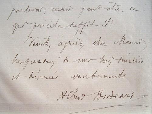Les conseils d'Albert Bordeaux pour se présenter à l'Académie.. Albert Bordeaux (1865-1937) Ingénieur des mines, frère de l'Académicien, il a effectué ...