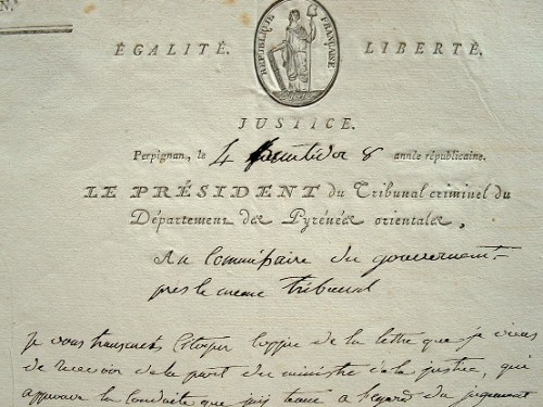 Le président du tribunal criminel de Perpignan approuvé..