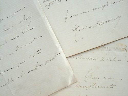 Xavier Marmier fait relier ses livres.. Xavier Marmier (1808-1892) Homme de lettres et grand voyageur, traducteur des littératures européennes du Nord ...
