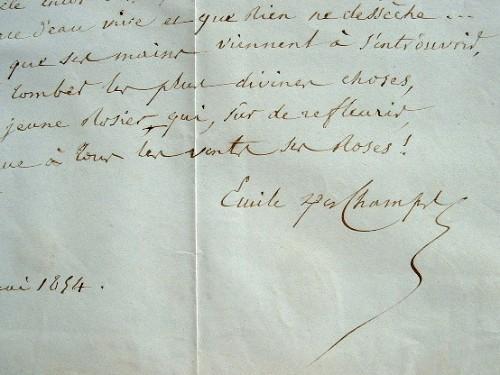 Poème du chantre du Romantisme, Emile Deschamps.. Emile Deschamps (1791-1871) Poète, l'un des plus fervents représentants du mouvement romantique ; il ...
