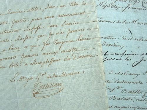 Castellan prend officiellement les fonctions de major général de la Marine..