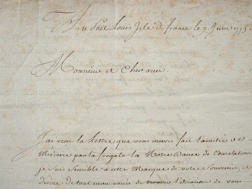 Le contrôleur de la Marine à l'Isle de France se souvient de son séjour à Manille..