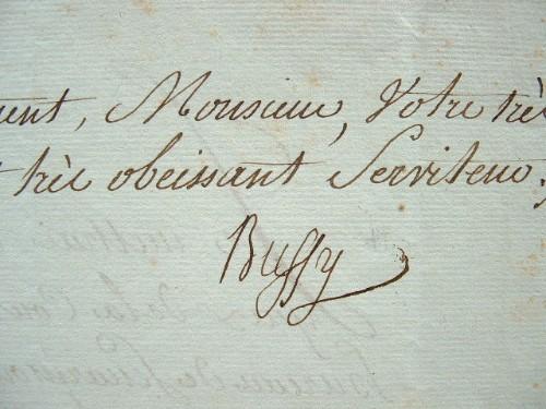 Bussy-Castelnau récompense un soldat de la bataille de Gondelour (Inde).. Charles Joseph Bussy-Castelnau (marquis de) (1720-1785) Commandant les ...