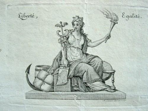 Belle vignette révolutionnaire d'Antoine Alexandre Cardon..