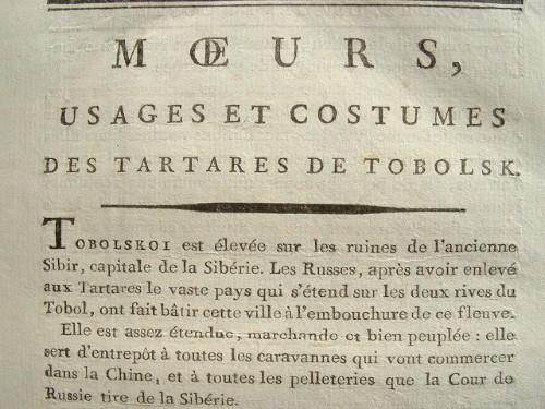 Moeurs et coûtumes des Tartares avec gravures aquarellées..