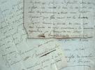 Trois lettres de Julien Bonnafox de Malet.. Julien Bonnafox de Malet (0-1817) Médecin consultant du roi, auteur d'un Traité de la nature et du ...