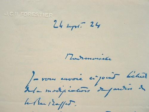 Le paysagiste Jean-Claude Forestier change ses plans.. Jean-Claude Nicolas Forestier (1861-1930) Architecte paysagiste, urbaniste, il réalise de ...