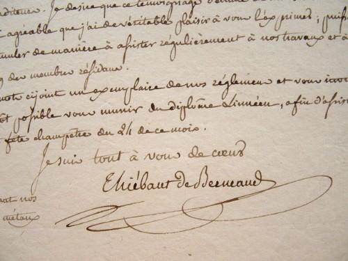 La Société Linnéenne de Paris accueille un nouveau membre.. Arsène Thiébaut de Berneaud (1777-1850) Botaniste et agronome, secrétaire perpétuel de la ...