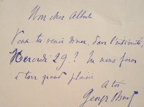 Invitation de Georges Ohnet.. Georges Ohnet (1848-1918) Ecrivain populaire, il s'oppose au mouvement naturaliste.
