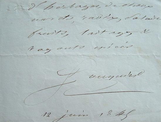 Docteur Fouquier. Ordonnance médicale. 1845. Pierre Eloi Fouquier (1776-1850) Médecin de Charles X et de Louis-Philippe, membre de l'Académie de ...