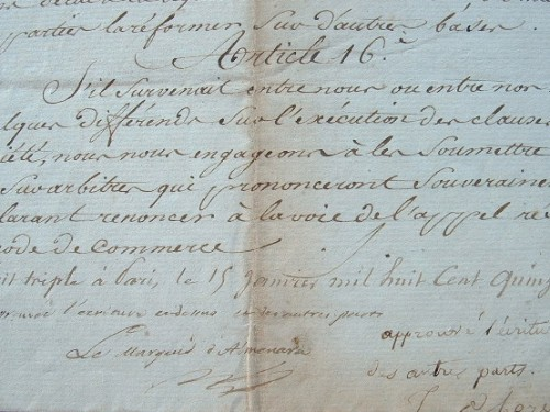 Le marquis d'Almenara fonde une banque à Paris en 1815.. Joseph Martin Hervas (marquis d'Almenara) (1760-1830) Financier et diplomate espagnol.