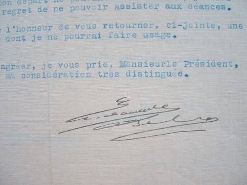 L'ingénieur Edouard Belin indisponible pour le congrès de la T.S.F.. Edouard Belin (1876-1963) Ingénieur, inventeur du belinographe (1907), procédé ...