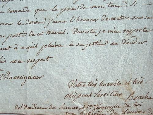 Buache réclame sa rétribution pour les cartes des bailliages.. Jean Nicolas Buache (de La Neuville) (1741-1825) Premier géographe du roi, membre de ...
