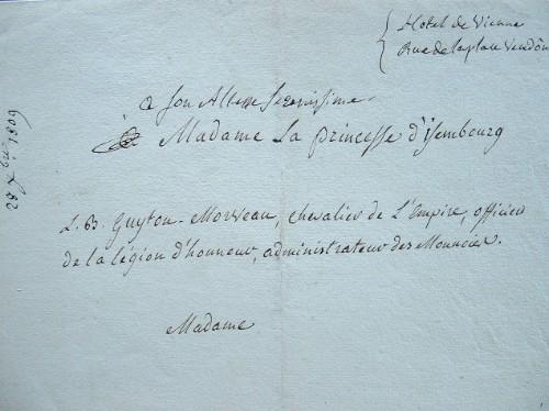 Guyton de Morveau offre son ouvrage sur la désinfection de l'air.. Louis Bernard Guyton de Morveau, baron (1737-1816) Chimiste, directeur de l'école ...