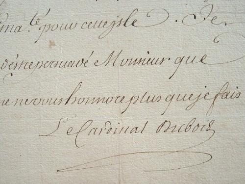 Le cardinal Dubois donne ses directives pour le Canada.. Guillaume Dubois (1656-1723) Cardinal, premier ministre durant la Régence (1715-1723), membre ...