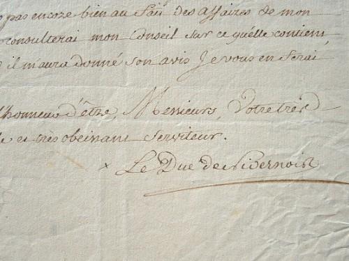 Le duc de Nivernais découvre son nouveau duché.. Louis Jules Mancini Mazarini, duc de Nivernais (1716-1798) Homme de lettres et diplomate, ambassadeur ...