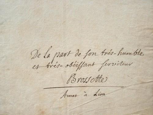 Quelques mots de l'un des fondateurs de l'Académie de Lyon, Claude Brossette.. Claude Brossette (1671-1743) Avocat et homme de lettres, ami de ...