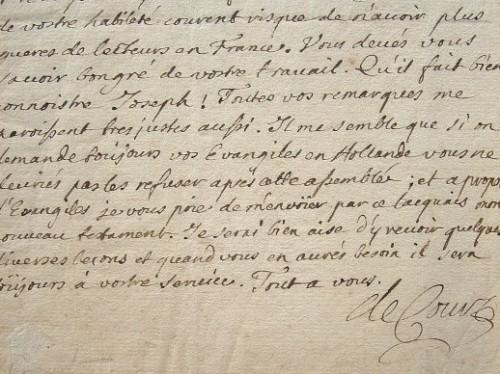 Caton de Court encourage Nicolas Toinard à publier en Hollande.. Charles Court (Caton de) (1654-1694) Secrétaire des commandements du duc du Maine ...