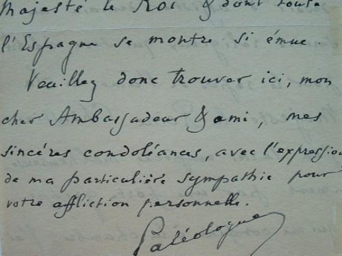 Maurice Paléologue n'assistera pas aux funérailles de la reine Christine.. Maurice Paléologue (1859-1944) Descendant des Empereurs de Byzance et ...
