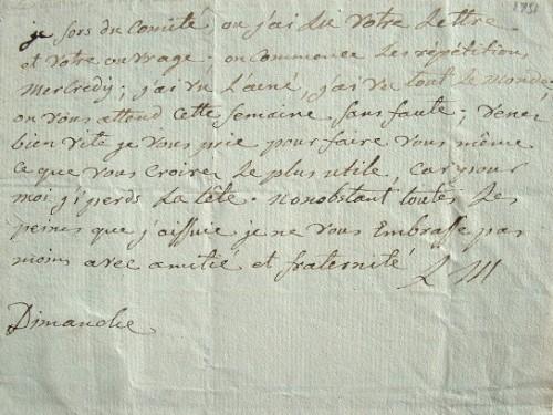 Le compositeur Jean-Baptiste Lemoyne débute des répétitions.. Jean-Baptiste Lemoyne (1751-1796) Compositeur d'opéras et chef d'orchestre.