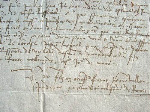 Le prieur des Célestins de Rouen discute des droits féodaux..