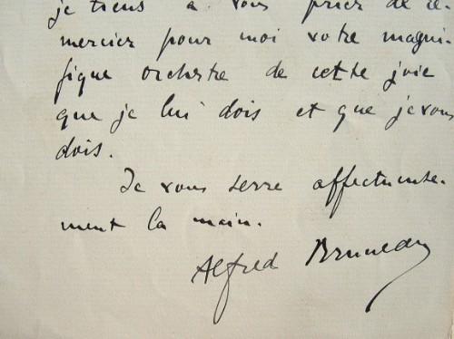 Alfred Bruneau enthousiasmé par son oeuvre.. Alfred Bruneau (1857-1934) Compositeur, membre de l'Académie des Beaux-arts.