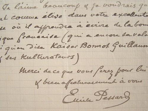 Le compositeur Emile Pessard croit en la musique française.. Emile Pessard (1843-1917) Compositeur, grand prix de Rome (1866), professeur d'harmonie ...