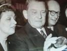 Président René Coty. Lot de 21 photos de presse.. René Coty (1882-1962) Président de la République française (1954-1959).