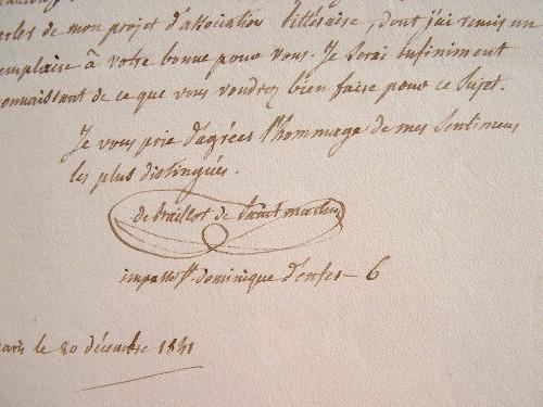 L'agronome Baillot de Saint-Martin projette une association littéraire..