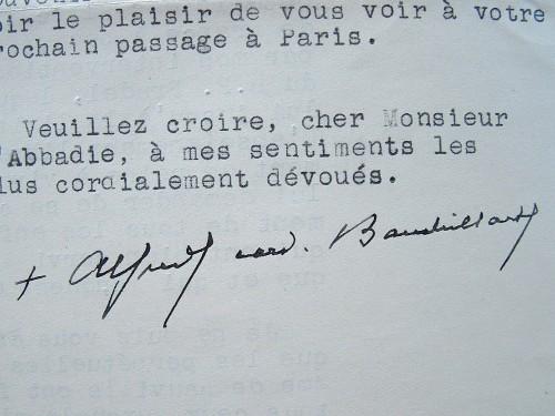 Mgr Baudrillart excédé par les demandes incessantes.. Alfred Baudrillart (1859-1942) Prélat et historien, académicien (1918).