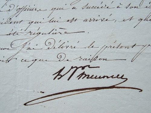 Le général Meunier, commandant de Saint-Cyr, reconnaît la blessure d'un élève.. Hugues Alexandre Joseph Meunier (1751-1831) Général de la Révolution ...