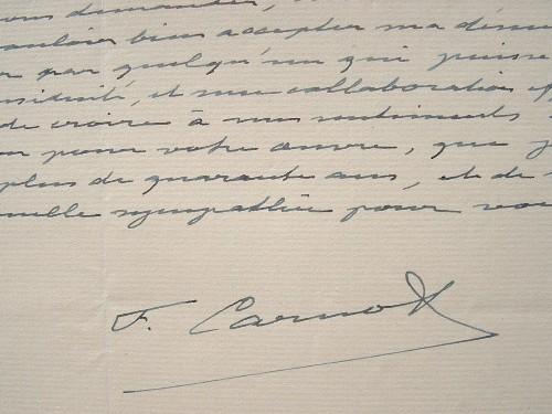 Le directeur de la Manufacture des Gobelins, Fr. Carnat, donne sa démission.. François Adolphe Léon Carnot (1872-1960) Ingénieur, député, directeur de ...