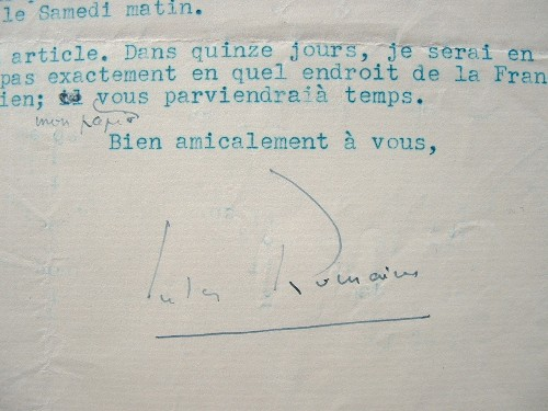 Jules Romains part en voyage improvisé.. Jules Romains (1885-1972) Ecrivain, poète et dramaturge, membre de l'Académie française (1946).