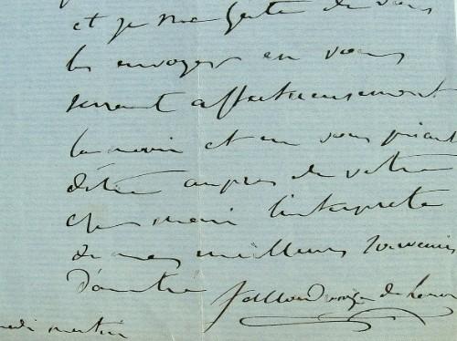 Salladrouze de Lamornaix envoie ses invitations.. Charles Jean Sallandrouze de Lamornaix (1808-1867) Industriel et député, propriétaire de la ...