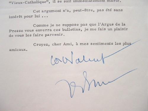 """Le général de Bénouville médite sur les """"Vieux-Catholiques"""".. Pierre Bénouville (Guillain de) (1914-2001) Résistant, homme politique et patron de ..."""