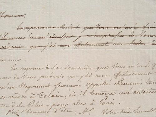 Montlosier, en exil, demande audience.. François Dominique de Reynaud de Montlosier (1755-1838) Député aux États généraux, il défend la monarchie et ...