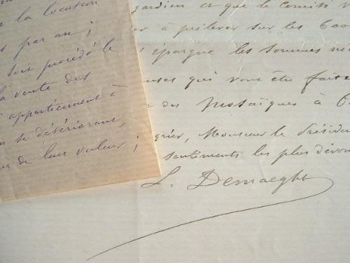 L'archéologue Louis Demaeght enrichit le musée d'Oran de mosaïques précieuses.. Louis Demaeght (1831-1898) Archéologue et officier, fondateur du Musée ...