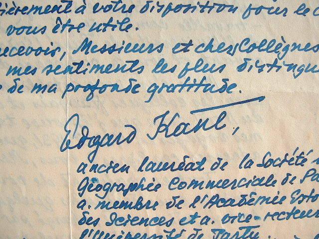 Le géographe estonien Edgar Kant dénonce le martyre de son pays.. Edgar Kant (1902-1978) Géographe estonien, pionnier de exploration de la Baltique, ...