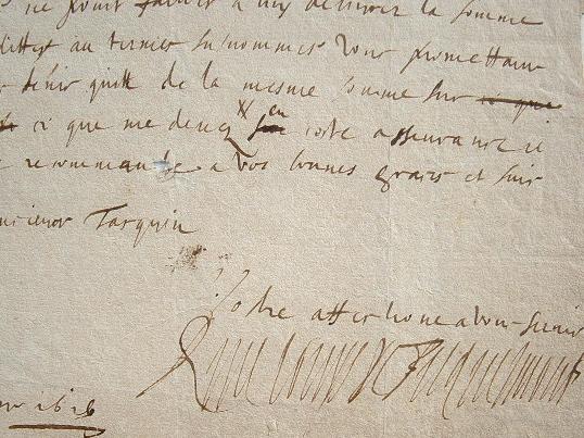 L'abbé de Mouzon, René Louis de Ficquelmont, fait ses comptes..