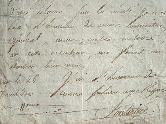Le secrétaire général de Saint-Domingue reste fidèle à Rochambeau..