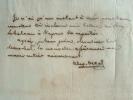 Le consul de Tunis, Al. Deval, transmet une lettre du Bey à Clauzel.. Alexandre Deval (1795-1839) Consul de France en Algérie (1819-1832), puis à ...