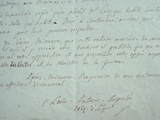 Mgr Pavy fait le choix de ses évêques d'Oran et de Constantine.. Louis Antoine Augustin Pavy (1805-1866) Deuxième évêque d'Alger (1846-1866).