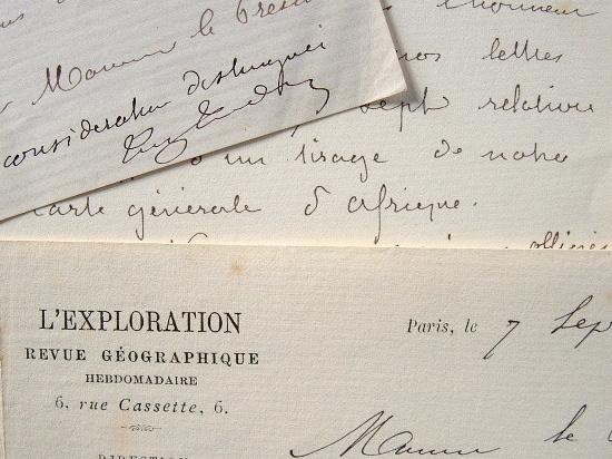 Le géographe Eugène Tardieu tente de céder sa grande carte d'Afrique.. Eugène Tardieu (1822-1893) Géographe attaché au ministère des Affaires ...