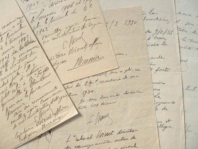 Correspondance de l'historien du Maroc, Louis Voinot.. Louis Voinot (1869-1960) Officier et historien du Maroc.