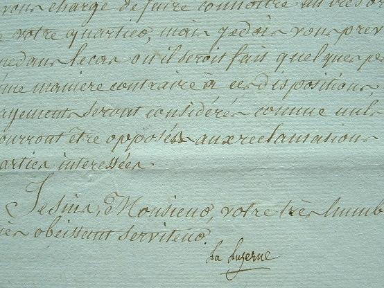 Rappel à l'ordre pour les rôles d'équipage des navires de Fécamp.. César Henri La Luzerne (de) (1737-1799) Gouverneur général de Saint-Domingue ...