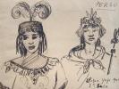 Dessins de rois et reines Incas..