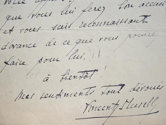 Vincent Muselli aide un ami.. Vincent Muselli (1879-1956) Poète.